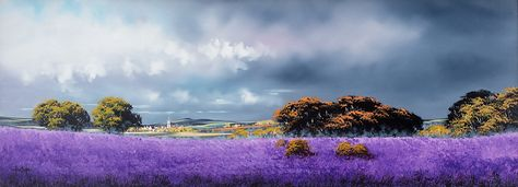 Here's a heady summer storm to cool you down by the master of atmosphere Allan Morgan... You can almost smell the intoxicating lavender and the heavy, close rainclouds about to break! Dreamy Skies.. http://wyecliffe.com/products/dreamy-skies-allan-morgan