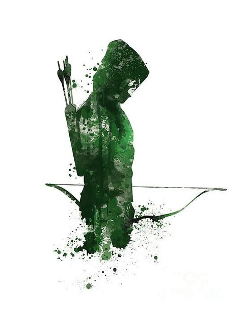 Green Arrow Mixed Media by Monn PrintYou can find Green arrow and more on our website.Green Arrow Mixed Media by Monn Print