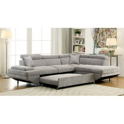 Orren Ellis Aprie 103 Sleeper Sectional Wayfair Sectional Sleeper Sofa Sectional Sofa Couch Fabric Sectional Sofas