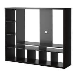Porta Tv Ikea.Tv Storage Unit Lappland Black Brown In 2019 Living Room