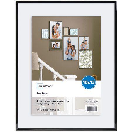 Mainstays 10 X 13 Flex Float Format Picture Frame Black Fits Up To 10x13 Walmart Com Floating Frame Picture Frame Wall Frame