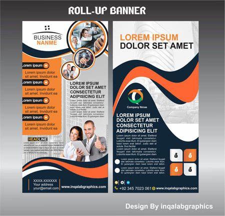 Roll Up Banner Design Template Free Vector Art Photo And Corel Draw Illustration Vector Download Desain Seni