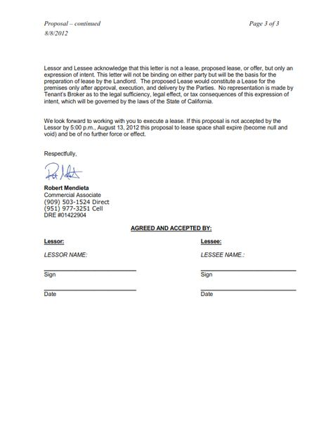 Commerical Lease Prposals  To Learn More About How We Can Submit