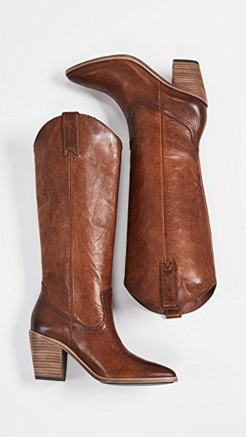 New Womens Western Trendy Cowboy Pointed Toe Knee High Pull On Riding Boots Club
