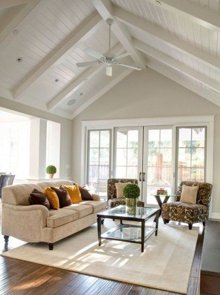 Cool Ceilings Lighting Design Ideas For Living Room To Try 06 High Ceiling Living Room Cathedral Ceiling Living Room Vaulted Ceiling Living Room