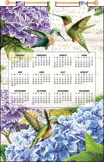 Hummingbirds 2021 Felt Calendar | Calendar kit, Plastic canvas