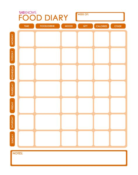 Captivating Food Diary To Go Food Diary, Weight Loss And Weight Loss Food   Calorie Regarding Calorie Diary Template