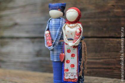 """""""Неразлучники""""- семейный оберег - народная кукла,оберег,оберег для семьи"""