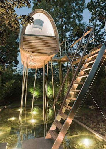 Une Cabane dans les arbres par Baumraum decodesign / Décoration
