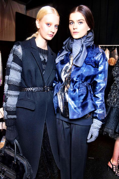 Modern metallics at the MILLY Fall 2014 Runway Show