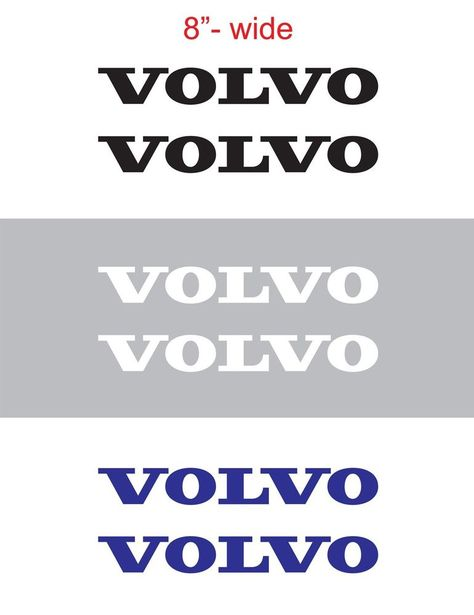 "2pcs 26/"" wide VOLVO Vinyl Sticker Decal Graphics for SEMI TRUCK"