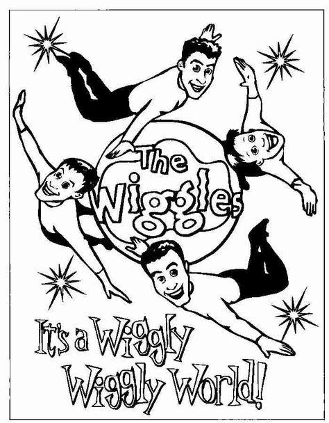 Free Printable Wiggles Coloring Pages For Kids Cartoon Coloring