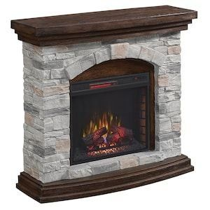 Duraflame 45 In W Brown Grey Infrared Quartz Electric Fireplace At