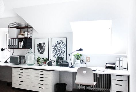 Ideas To Home Office. You and your partner work together? Do you like to bring work to home or even work together from home? Luckily if your house is ...