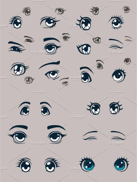 Anime Eyes Illustrations / Clipart