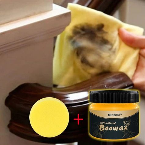 Bring Dull Furniture Back To Life! Removes years of wax and dirt buildup to restore the look of your old furniture.This all-purpose Beewax not only cleans your wood furniture and wood cabinets but also polishes them to give them that natural shine! Works to remove scuff marks, grease, grime, and dirt from painted surf