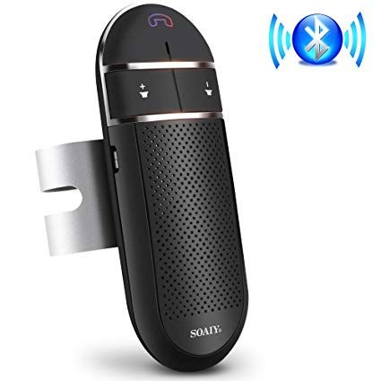 Bluetooth Car Speakerphone Soaiy S 31 Wireless Bluetooth Car Kit With Auto Power Off Function Voice Command Hands Free Car Bluetooth Phone Speaker Bluetooth