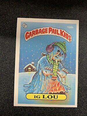 Topps S4 Series Garbage Pail Kids 158b Ig Lou Ebay Garbage Pail Kids Cards Garbage Pail Kids Kids Series