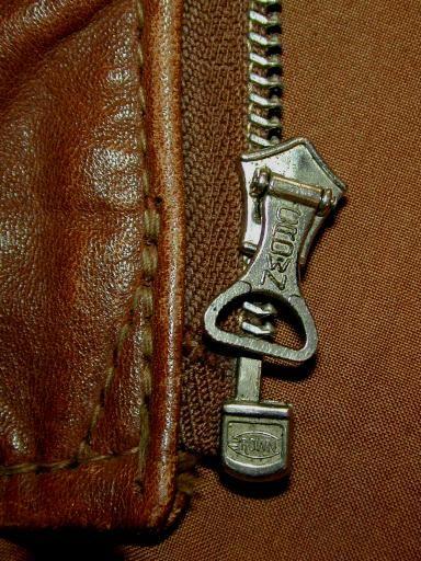 """1 × 24/"""" pouces talon repro Vintage Style Metal Jacket Zip-Zipper"""