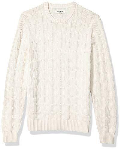 Goodthreads Mens Soft Cotton Striped Crewneck Sweater