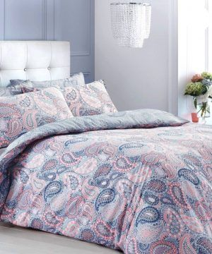 Scattered Floral Purple Pieridae Duvet Cover Quilt Reversible Bedding Double Set