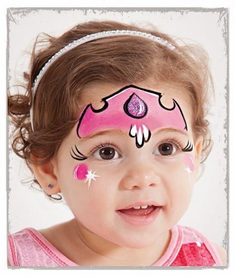 Pintar la cara princesa en DEF deco   Decorar en familia