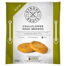 Strong Roots Cauliflower Hash Browns Asda Groceries Vegan