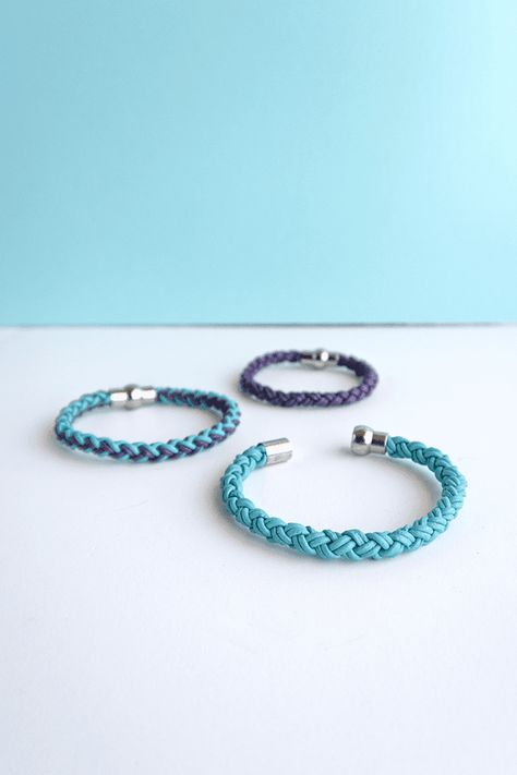 DIY Round Braid Leather Friendship Bracelets