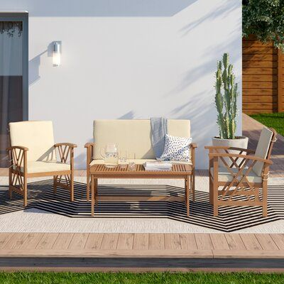 Lark Manor Medora 4 Piece Sofa Seating Group With Cushions Frame