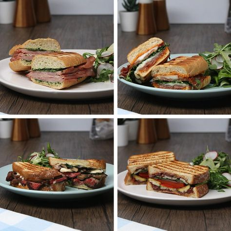Bring some European flair to lunchtime with these Villaggio Artesano Paninis made 4 ways. Learn more at www.villaggio.ca