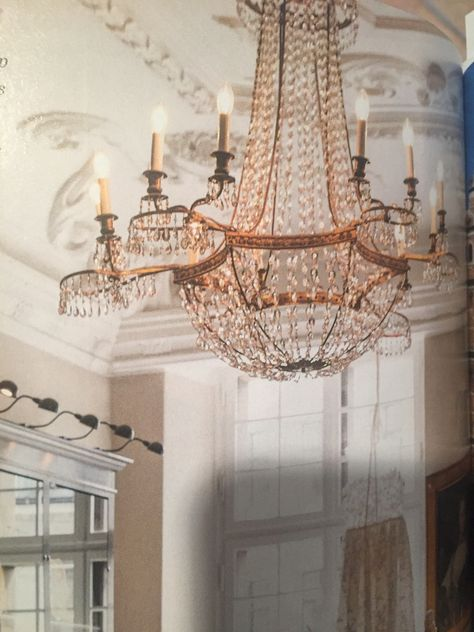 Victoria March April 2018 Chandelier From Royal Copenhagen Store In