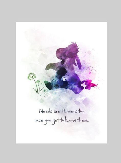 Eeyore Quote ART PRINT Winnie the Pooh, Nursery, Gift, Wall Art, Home Decor