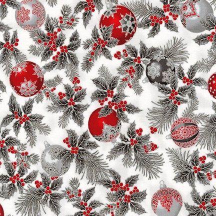 Silver Christmas Ornaments With Metallic Holiday Flourish 12