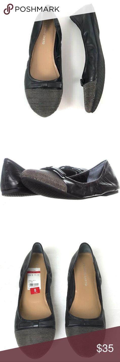 flat studded minimalist flat shoes round toe ballet flats minimal grunge rocker flats 90s black leather grommeted ballet flats 8.5