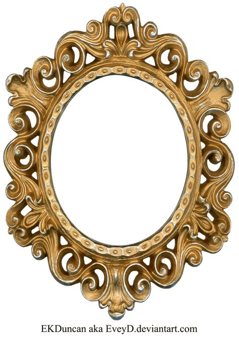 Vintage Gold and Silver Frame - Oval by ~EveyD on deviantART