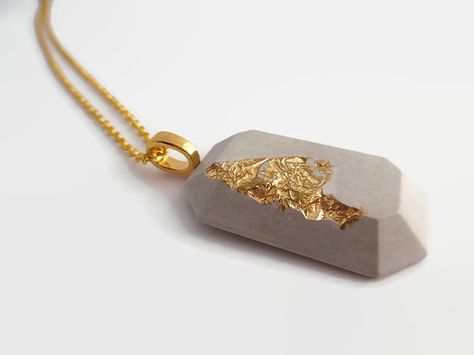 Cement Necklace concrete necklace concrete jewelry cement jewelry gifts for her modern necklace beton concrete pendant modern