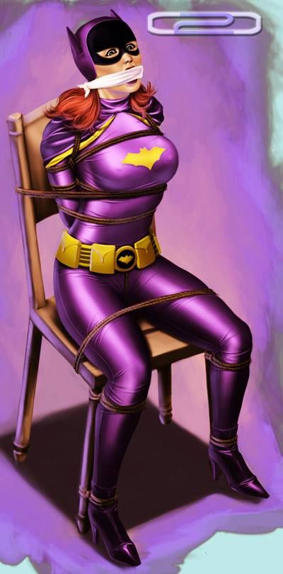 Batgirl tied up