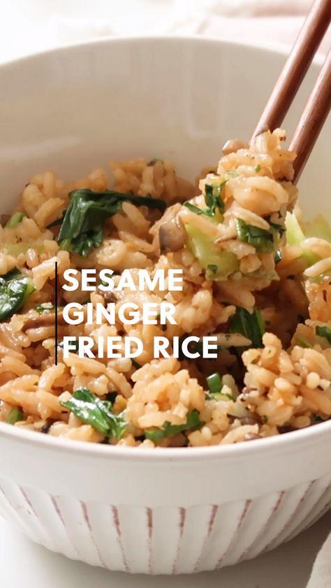 Vegan Sesame Ginger Fried Rice