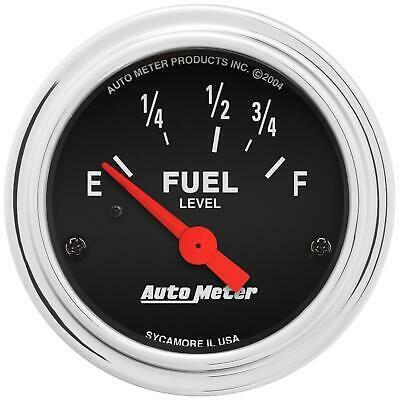 Sponsored Ebay Autometer Traditional Chrome Electrical Fuel Gauge 2 1 16 Dia Black Face 2515 Gauges Ebay Mopar