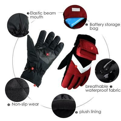 Ebay Advertisement Electric Heated Gloves Rechargeable Temperature Control Winter Warmer Gloves In 2020 Warm Gloves Heated Gloves Gloves Winter