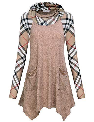 Flowy Tops For Women Ladies Causal Checkered Colorblock Top