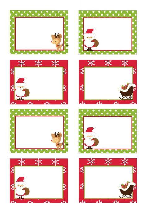 Etiquettes Noël gratuites à imprimer pour cadeaux