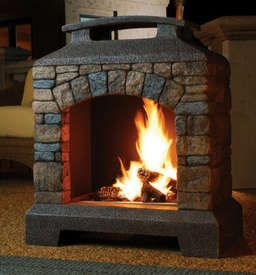 propane fireplace - this is AWESOME!! And it is propane, which is ...