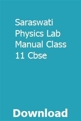 Saraswati Physics Lab Manual Class 11 Cbse | parminsbowfri