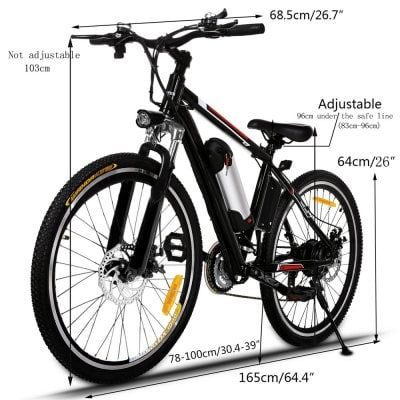 Ancheer 26 Inch 250w 21 Speed Powerful Electric Bike City Road Electric Mountain Bicycle Sale Price Reviews Gearbest Best Electric Bikes Electric Mountain Bike Folding Mountain Bike