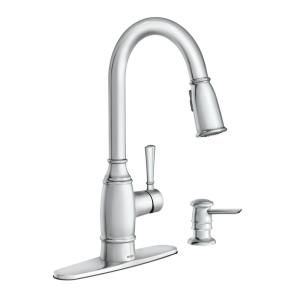 Moen Noell Single Handle Pull Down Sprayer Kitchen Faucet With