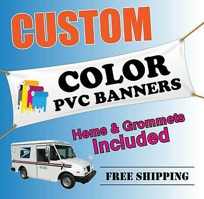 Ebay Ad Link Custom Pvc Vinyl Banner Printing Thick 13 Oz Plastic Hemmed Edges Metal Grommets In 2020 Vinyl Banner Printing Vinyl Banners Pvc Vinyl