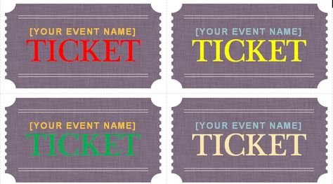 Generic Event Ticket Templates Tickets Pinterest Ticket - event ticket template word