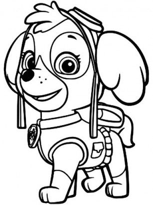Skye - Paw Patrol Coloring Pages | Coloring Pages | Pinterest | Paw ...
