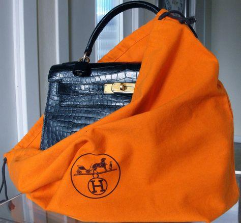 54f248358e5f Hermes Kelly 28cm Black Crocodile Handbag era 50´s Clothing and accessories  VTG and Pre